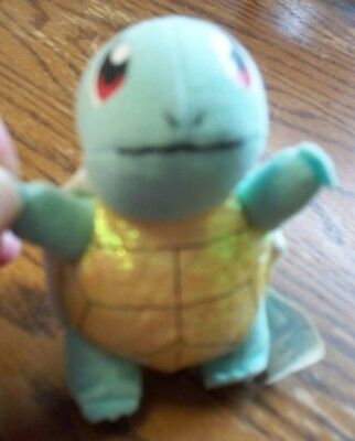 Pokemon Squirtle Beanbag Toy 3.5 Inches Applause 1998 in Great Condition