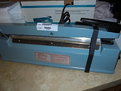 "NEW Omcan 14448 Manual Impulse Bag Sealer With 12"" Seal Bar And Adjustable Time"
