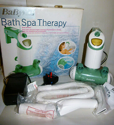 Babyliss Bath Spa Therapy Duel Water Jets hydro Massage Water Whirl & Bubbles