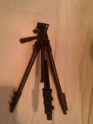 Manfrotto 7301YB Tripod  with pan tilt head.  Color: Black