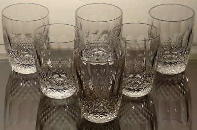 """6 Vintage Waterford Crystal Colleen 5 Ounce Tumbler ~ Juice Glasses 3 1/2"""""""