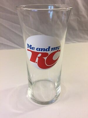 """""""Me And My RC"""" Cola Glass Cup Advertising Piece RARE Vintage Beautiful Pristine"""