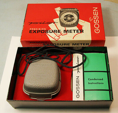 Vintage Gossen Pilot Incedent and Reflected Light Exposure Meter Pristine in box