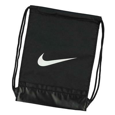 Nike Brasilia Black Gym Training Football Sports Drawstring Gym bag/Sack