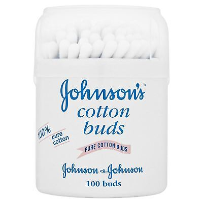 Johnson Baby 100% Pure Cotton Buds(100) Removing Make-Up And Natural Cleaning