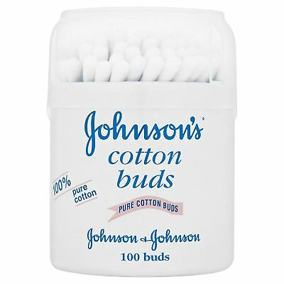 Johnsons Cotton Buds Qty 100 Per Tub For Cleaning Ears Nose