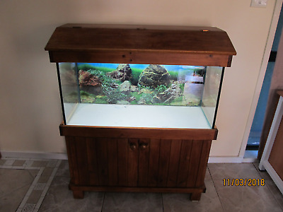 Fish tank 3ft , with cabinet and accessories .