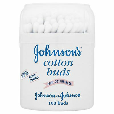 Original Johnsons Pure Cotton Buds Pack of 100 Ideal For Baby