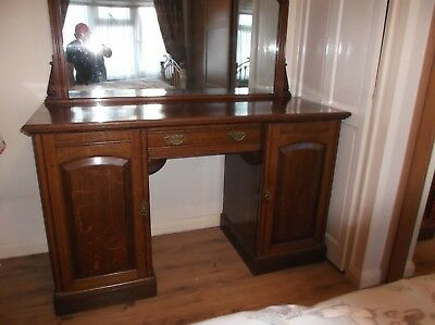 chiffonier mahogany/oak solid wood antique victorian 5ft/2ft