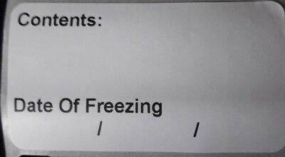 200 Food Label  Date Of Freezing 57mm x 32mm (FREE POSTAGE)