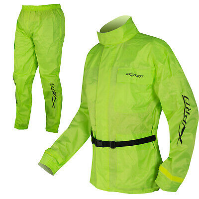 Motorcycle Apparel Rain Over Suit 2 pc Waterproof Scooter Hi Vis Sonicmoto