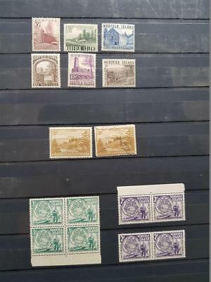 AUSTRALIA NORFOLK ISLAND Set of 1953 Local Motives + More 16 Stamps MNH MH Used