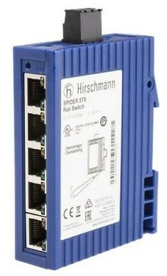 Hirschmann Spider 5Tx Rail Switch Ethernet 24V Dc Supply