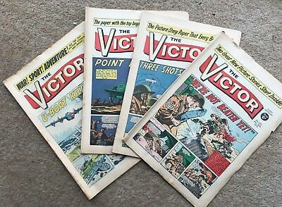 The Victor March 1970 1 Month's Run x 4 Issues