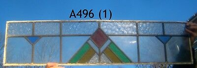 A490 (2) transom         exceptional Stained Glass window . Ca 1930.