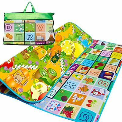 2 Sided 200X180cm Kids Crawling Educational Game Soft Foam Picnic Carpet Play Ma