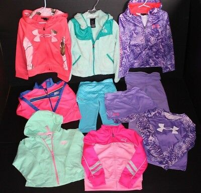 Girl's Sz 4 10-Piece Clothing Lot - The North Face, Under Armour, Nike, & Puma