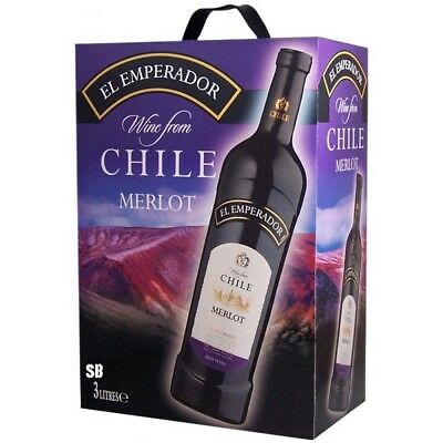 El Emperador Merlot Chile Rotwein Bag in Box 13% vol 300cl BiB