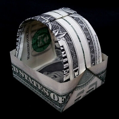 Origami sculpture bat 3d art gift money figurine handmade of real 1 money origami easter basket 3d art gift handmade out of real one dollar bill negle Image collections