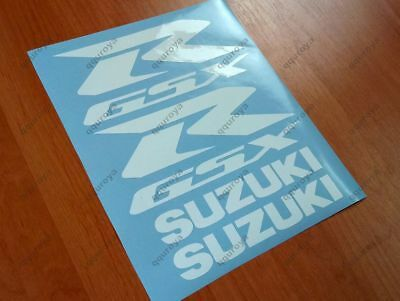SUZUKI GSXR FAIRING DECALS STICKERS 600 750 1000 1100 TANK BIKE MOTORCYCLE #008w