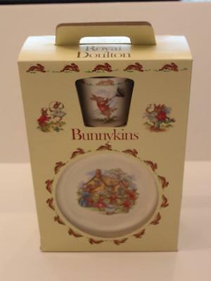 New Royal Doulton Bunnykins 3 Piece Chilren's Dish Set Easter Gift Nib Msrp $72