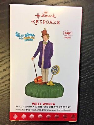 Hallmark  2017 Willy Wonka And The Chocolate Factory Sound Ornament