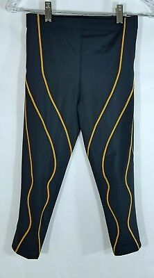 CW-X Women's 3/4 Performx Compression Tights Black and Peach Small NEW