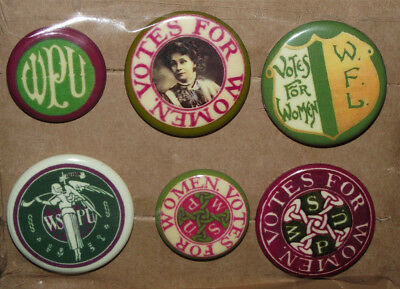 Suffragette Badge Pin Lot Votes For Women Suffrage Pankhurst Wspu Union Protest