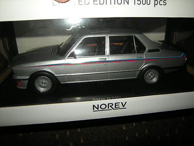 1:18 Norev BMW M 535i E12 1980 silver/silber Nr. 183266 in OVP Limited Edition