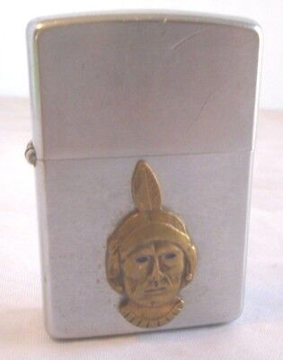 Vintage 1966 Zippo Lighter Navajo Freight Trucking Blue-eyed Indian