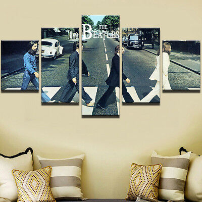 The Beatles Rock Music Band Abstract Painting Canvas Print Wall Art Home Decor