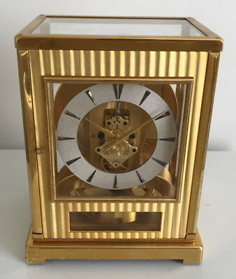 Fully Serviced & Rare! Jaeger LeCoultre Atmos Tuxedo 522 Model Clock- Working!