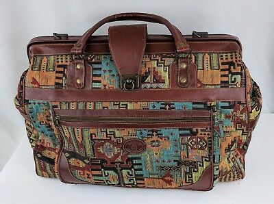 VINTAGE South Western Doctor Apothecary Carpet Bag/Tote OVERSIZED!
