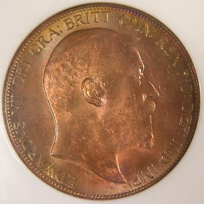 Great Britain Penny, 1902, Spink 3989, Certified by NGC MS 64 RD, 1756633-002