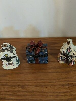 Lot of 3 BOYD'S BEARS TREASURE BOXES