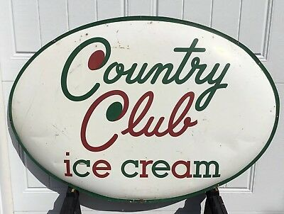 Vintage Country Club Ice Cream Sign