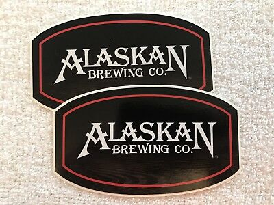 Lot Of 2 Alaskan Brewing Company Stickers Craft Beer