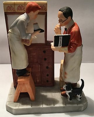 """Norman Rockwell Figurine """"Year End Count"""" by Gorham ~ (Numbered)"""