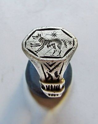 "Ancient Silver Roman Legionary Ring "" She-Wolf """