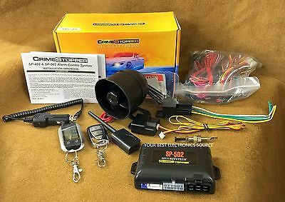 Keyless Entry Security System Crime Stopper SP-402 Car Alarm with Remote Start