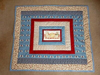 "WESTIE WEST HIGHLAND WHITE TERRIER DOG  HOME MADE WALL HANGING QUILT  46"" x 39"""