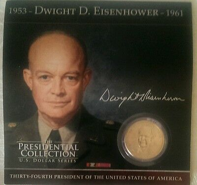 New 1953 Dwight Eisenhower '61,Presidential Collection Dollar Series Metal Coin