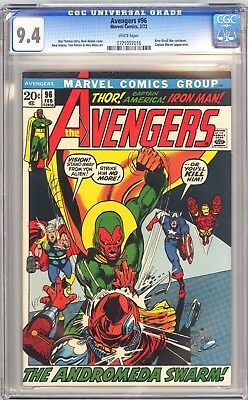 Avengers 96 CGC 9.4 NM WHITE 2/72 Kree-Skrull war. Adams art!