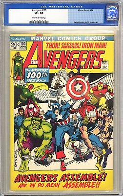 Avengers 100 CGC 8.5 VF+ 6/72  Barry Smith art!