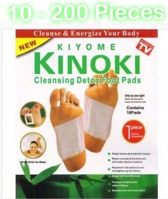 KINOKI 10 - 200pcs Detox Foot Pads Patch Detoxify Toxins Adhesive FitHealth Care