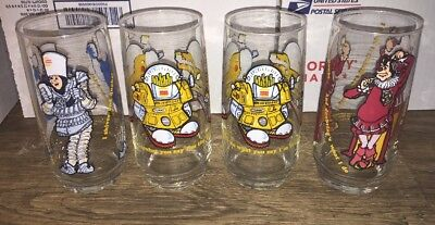 Vintage 1979 Burger King Collector's Series Glasses - Lot of 4 (mint)