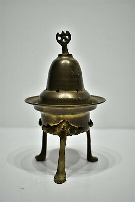 Antique Religious Brass & Bronze Incense Burner | Late 18th - Early 19th Century