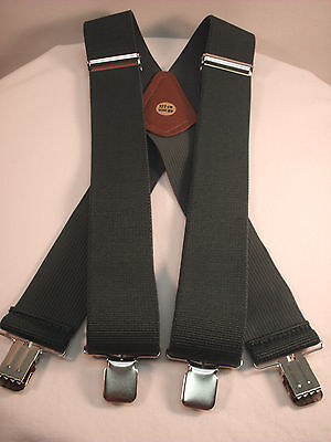 "New, Men's, Hunter Green,  XL, Adj. 2"",  Suspenders / Braces, Made in the USA"
