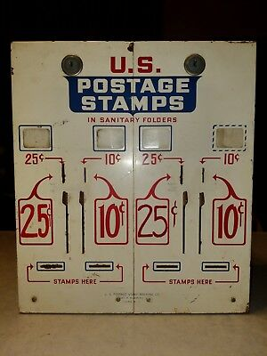Vintage U.s. Post Office 4 Slot Rare Stamp Vending Machine Coin Operated