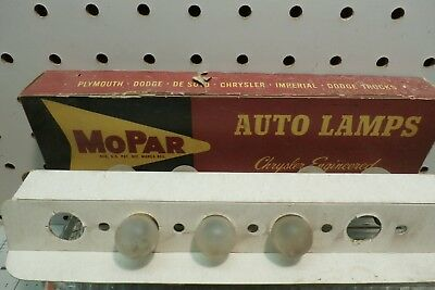 7- 67AF Mopar Frosted Lamps, Bulbs, With Red Mopar Box, Free US Ship `